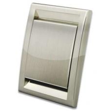 Пневморозетка Deco металлизированная (нерж. сталь)