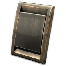 Пневморозетка Deco металлизированная (античная медь)