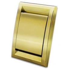 Пневморозетка Deco металлизированная (золото)