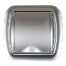 Евророзетка с рамкой (серебро)