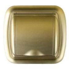 Евророзетка с рамкой (золото)