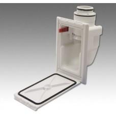 Розетка Hide-A-Hose белая с декоративной рамкой